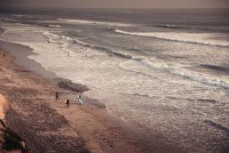 Encinitas Beach with Surfers