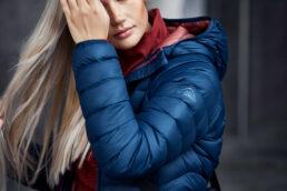 Female Model in McKinley down jacket