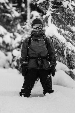 Snowboard in powder snow riding in Jämtland Sweden